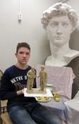 Юный скульптор из Невинномысска стал лауреатом Всероссийского конкурса