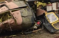 В жилом районе Стамбула рухнул военный вертолет