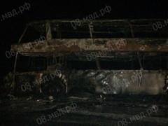 МВД: В Калмыкии загорелся пассажирский автобус