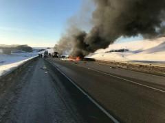 Под Воронежем при ДТП с возгоранием погибли семь человек