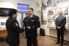 В музее полиции Ставрополья полицейские получили свои первые офицерские звания