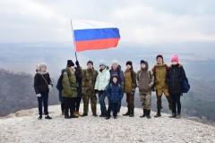 Ко Дню защитника Отечества невинномысцы совершили массовое восхождение на гору Малое седло