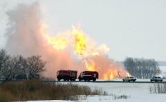 В ХМАО прогремел мощный взрыв на газопроводе