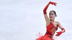 Алина Загитова стала лучшей в короткой программе на ЧМ по фигурному катанию
