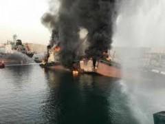 В ОАЭ произошли мощные взрывы на семи нефтяных танкерах