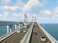 Первый железнодорожный путь Крымского моста построен
