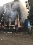 В Пятигорске при пожаре на предприятии пострадал мужчина