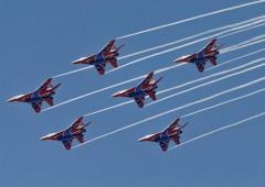 На закрытии форума «Армия-2019» «Стрижи» показали абсолютно новые фигуры высшего пилотажа