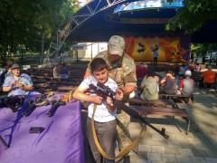 Донские пограничники устроили выставку современного вооружения, используемого подразделениями ФСБ РФ