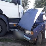 В Аксайском районе Дона при ДТП с участием грузовика пострадали два человека