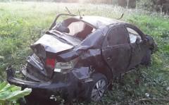 ДТП под Славянском-на-Кубани: иномарка перевернулась, трое погибли