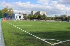 В КубГУ постелили новый газон на футбольном поле
