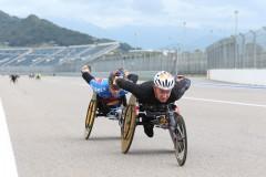 На трассе «Сочи Автодром» состоялся V Международный полумарафон на спортивных колясках Рецепт-Спорт