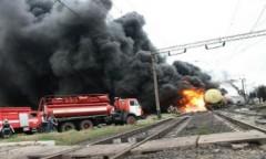 В Ленобласти загорелся товарный поезд с серой