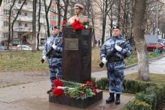 В Краснодаре открыли бюст героически погибшего воина правопорядка Александра Аверкиева