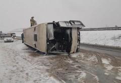 При ДТП с автобусом под Воронежем пострадали 17 человек