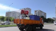 В Невинномысске продолжается тотальная дезинфекция улиц