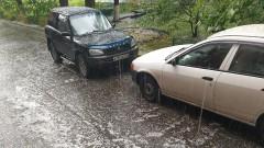 В Красноярске лето началось с урагана, сопровождавшегося градом