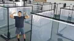 В Калифорнии появились контейнеры для занятий спортом в период COVID-19
