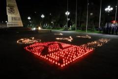 Огненную картину из более 1000 свечей выложили в Невинномысске