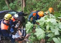 В Лазаревском районе Сочи при ДТП женщина упала в обрыв