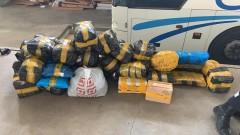 Донские пограничники выявили контрабанду товара на 800 тысяч рублей, спрятанную в автобусе