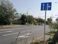 После сигнала ОНФ на улице Адыгейская Набережная в Краснодаре заменили дорожный знак