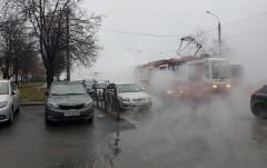 В Санкт-Петербурге прорвало трубу с кипятком