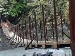 В сочинском горном селе Аибга построен новый пешеходный мост