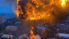 В Сургуте загорелся ангар на площади 800 квадратных метров