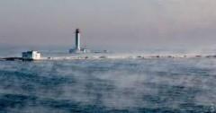 """Разница температур: в Одессе море """"закипело"""" от мороза"""