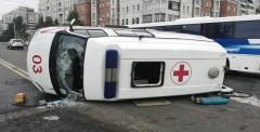 При ДТП в Петербурге перевернулась «скорая» с пациентом