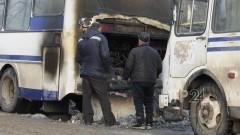В Татарстане во время движения загорелся вахтовый автобус