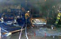 В автосервисе в Люберцах вспыхнул пожар