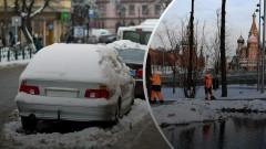 Дороги в Москве превратились в реки из-за резкого потепления