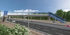 На Южном подъезде к Ростову-на-Дону начали строить новый пешеходный переход