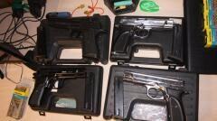 В Ейске на судне у моряка обнаружены четыре пистолета и 484 патрона к ним