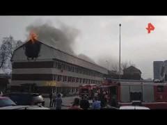 В Москве частично обрушилось воспламенившееся здание IQ-парка