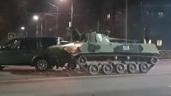 В Туле боевая машина десанта столкнулась с кроссовером