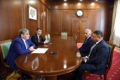 Глава КБР Казбек Коков провел рабочую встречу с представителями Федерального казначейства