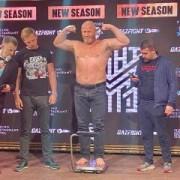 Михаил Миненков поздравил боксера ММА Сергея Харитонова с очередной победой