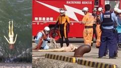 В Японии спасатели пришли на помощь «тонущей» секс-кукле
