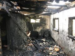 В станице Старолеушковской при пожаре погиб мужчина