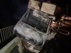 На выезде из Константиновска загорелась грузовая «Газель»