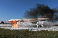В аэропорту Платов прошли учения аварийно-спасательной команды