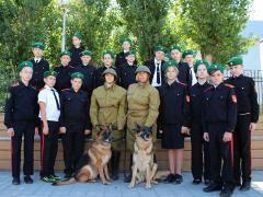 Юные друзья пограничников приняли участие в открытом уроке, посвящённом 10-й стрелковой дивизии внутренних войск НКВД СССР