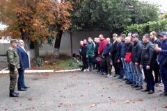 Первые добровольцы армейского мобилизационного резерва Невинномысска отправились на военные сборы