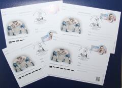 В Ейске прошло памятное гашение почтовой открытки в честь Ивана Поддубного