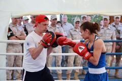 Федерация бокса России и ЦСКА открыли мобильный боксёрский зал на авиабазе «Хмеймим» в Сирии
