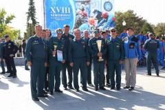 Команда ЮРПСО МЧС России приняла участие в закрытии XVIII чемпионата по многоборью спасателей